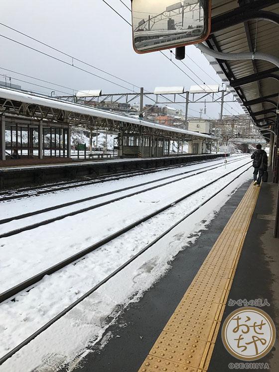 おせちや産地探訪記_北海道_手稲駅の雪景色