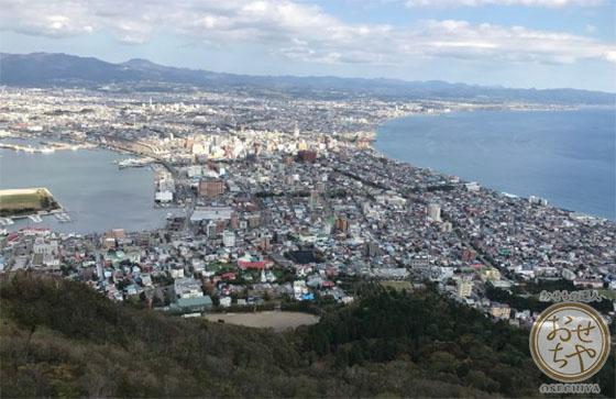 北海道の函館山からの風景