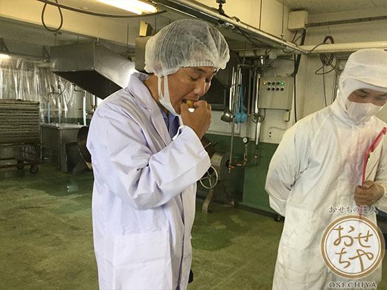 愛知県「栗きんとん」おせちやスタッフが行く産地訪問記_栗試食1