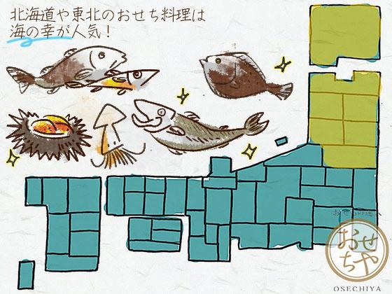 地方によりおせち料理の中身が違う!ご当地食材の特長まとめ_北海道、東北