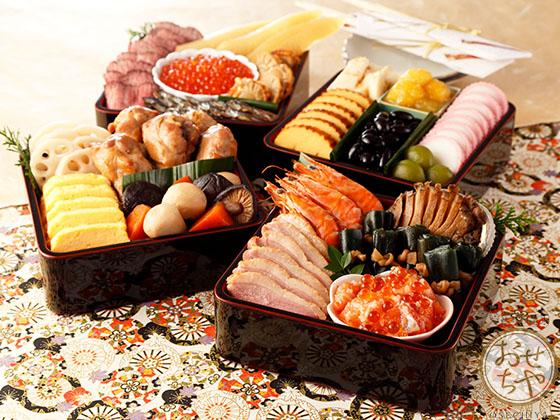 縁担ぎにもってこい!お正月おせちでお煮しめを食べる意味は?_お重箱4段盛りイメージ